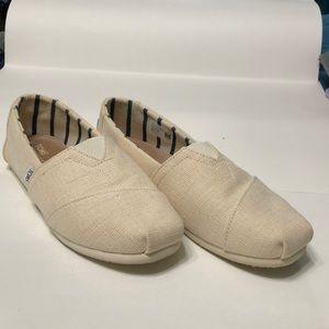 Classic antique white heritage canvas men's shoes